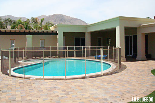 Installing a Safety pool fence / Brick Paver Design
