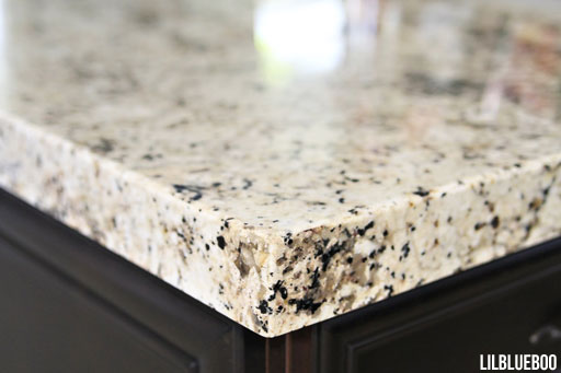 "Kitchen Decorating Ideas - A mitre 2.5"" Granite Edge, less expensive than a intricate cut via Ashley Hackshaw / Lil Blue Boo"