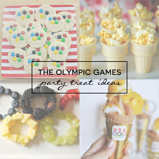 The Olympic Games Party Treat Ideas via Ashley Hackshaw / lilblueboo.com