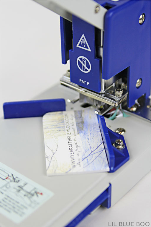 Order economical business cards and round the corners yourself with a DIY Corner Rounder that punches bulk die cuts