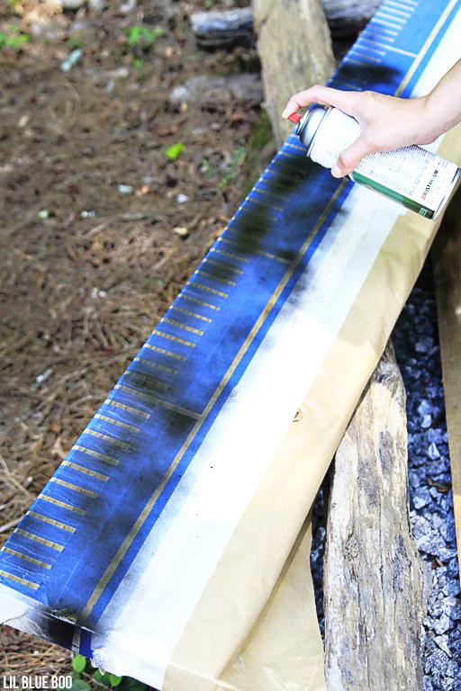 ScotchBlue Painter's Tape project ideas: Oversized Wood Ruler Growth Chart