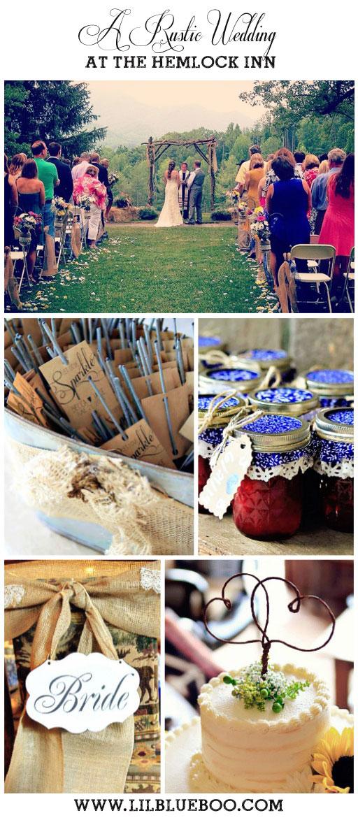Rustic Wedding Ideas - Hemlock Inn - Bryson City, NC #wedding #rusticwedding #ncwedding #brysoncity