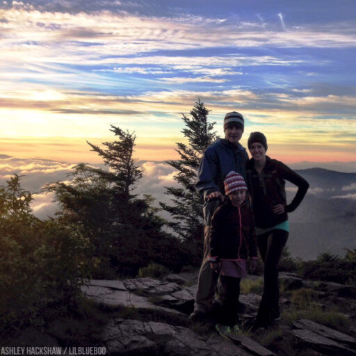 Sunrise at Myrtle Point on Mt LeConte short hike from Mount Le Conte Lodge