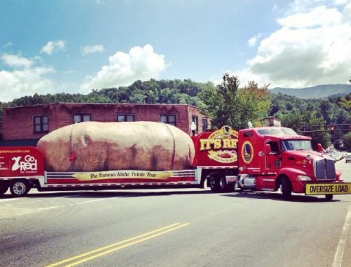 A Giant Potato on Everett Street in Bryson City, The Idaho Potato Tour