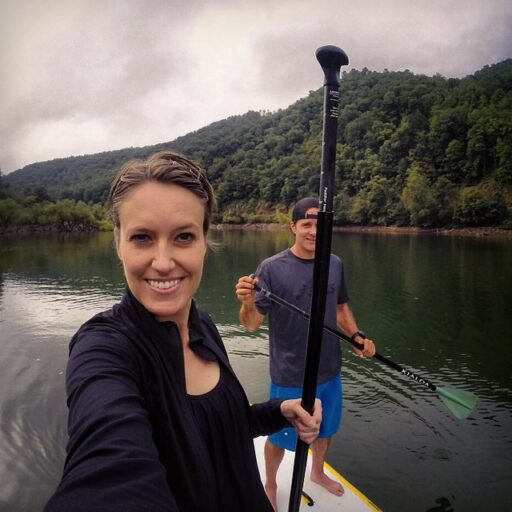 SUP (paddle boarding) on Fontana Lake with Bryson City Outdoors