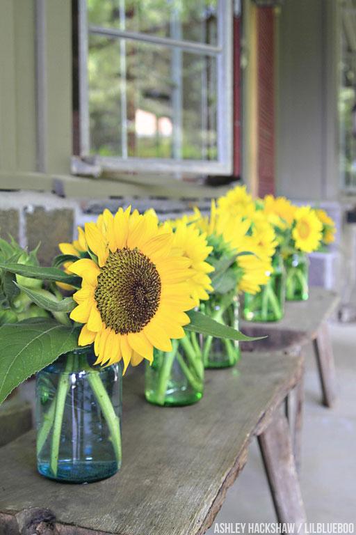sunflower table decor ideas wedding