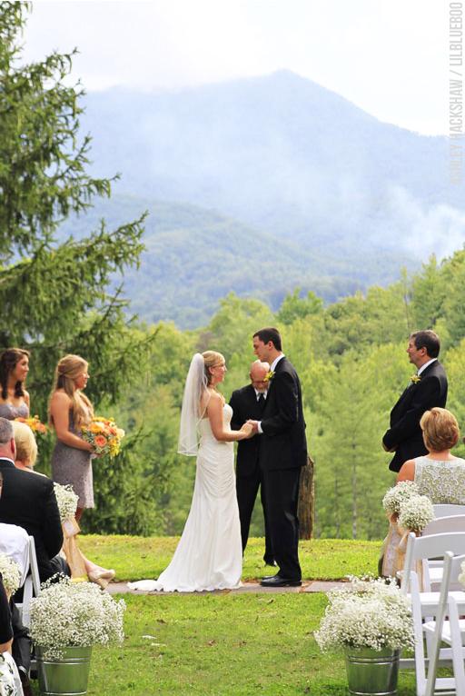 mountain wedding bryson city Hemlock Inn