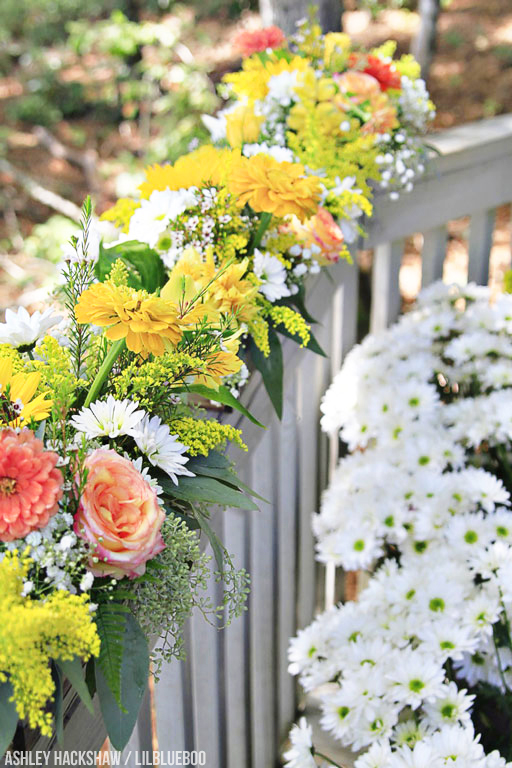 yellow and sherbet color flowers for wedding