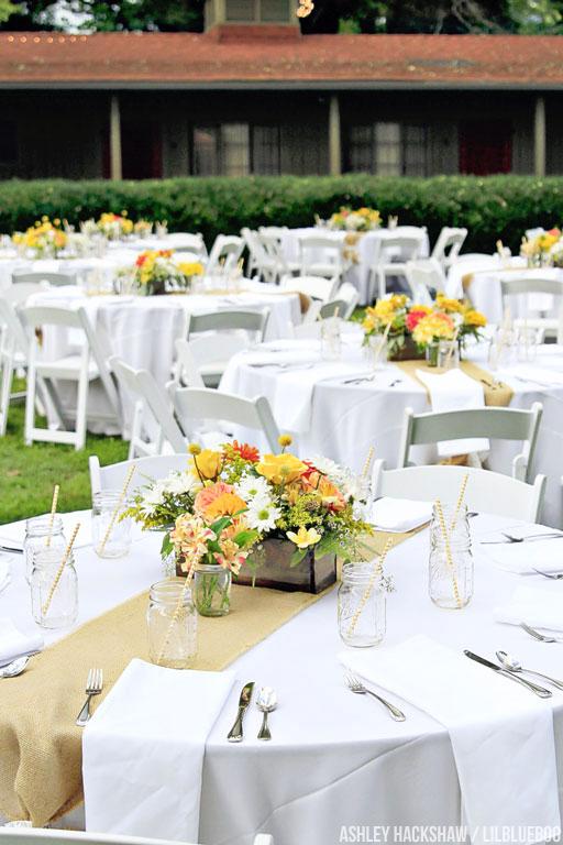 yellow wedding table centerpiece table decor ideas