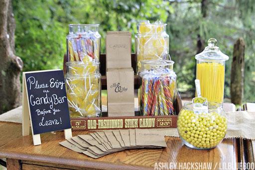 wedding candy bar photos