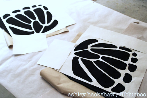 How to cut a large stencil