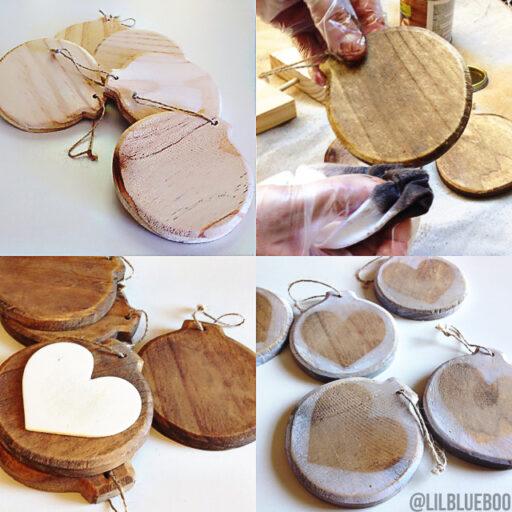 Raw Rustic Wood Ornaments