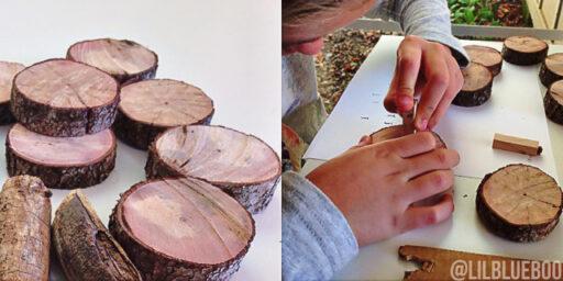 Birch Ornaments Hand Stamped