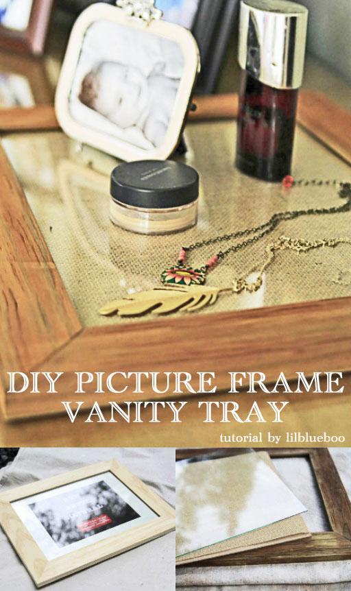 DIY Vanity Tray using a Photo Frame