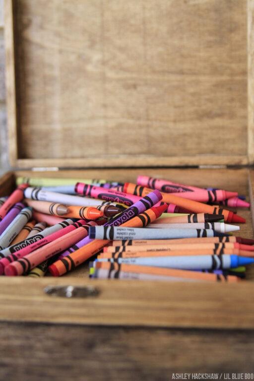 Crayon storage idea - How to organize kid stuff