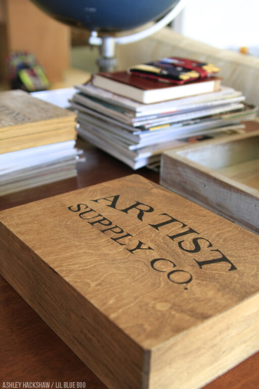 Vintage inspired organization - DIY art boxes