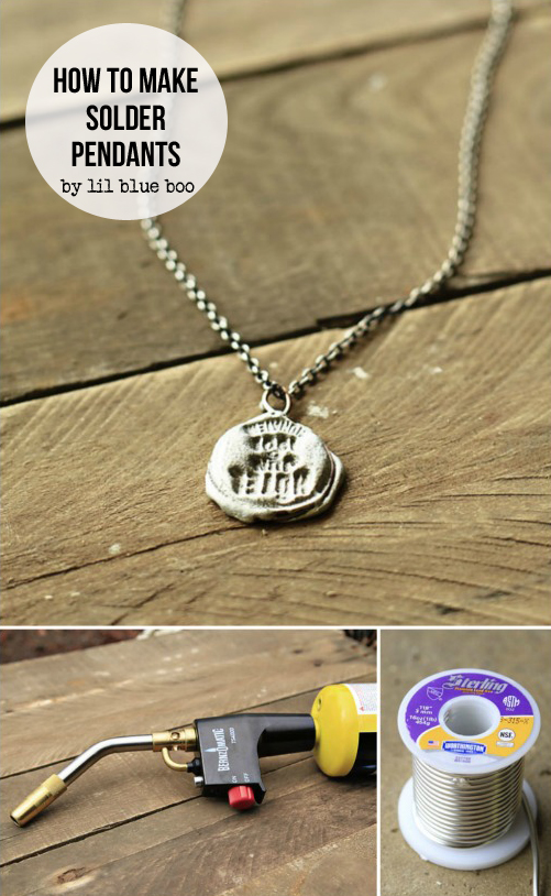How to make stamped solder pendants solder jewelry
