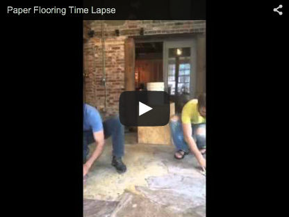 Paper Bag Flooring Time Lapse