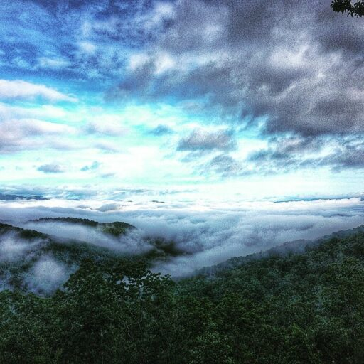 Cloudy view in  the Smokies