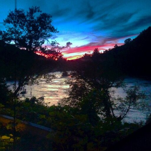 Tuckasegee River at dusk