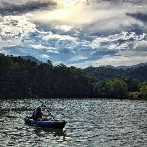 Fontana Lake Kayaking right outside of Bryson City