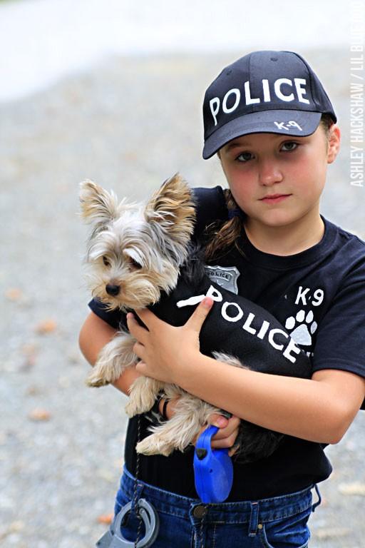 DIY Kids Halloween Costume Idea - Police and Dog