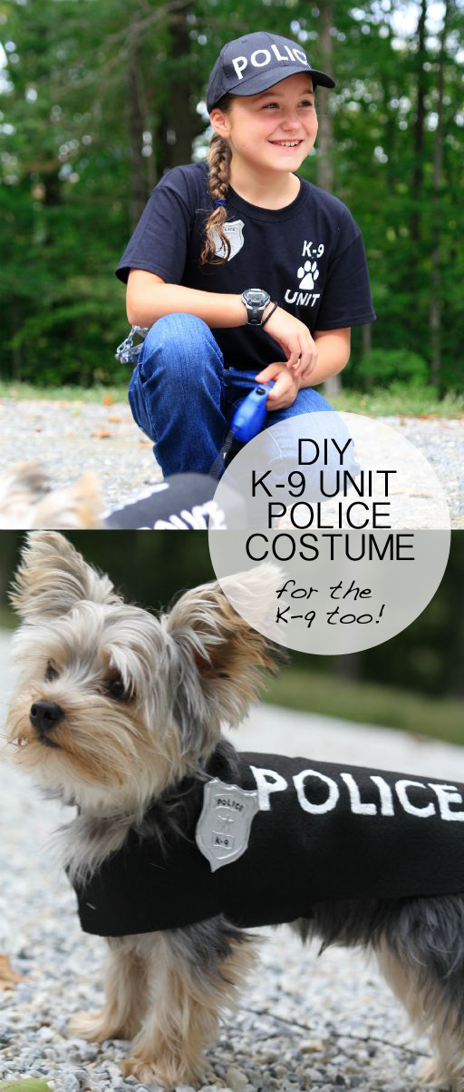 Diy Dog Costumes: DIY Police Costume And K-9 Dog Halloween Costume