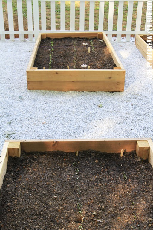 building a garden box raised bed on slope