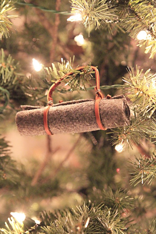 Vintage Christmas Ornament - Camping Bed Roll DIY