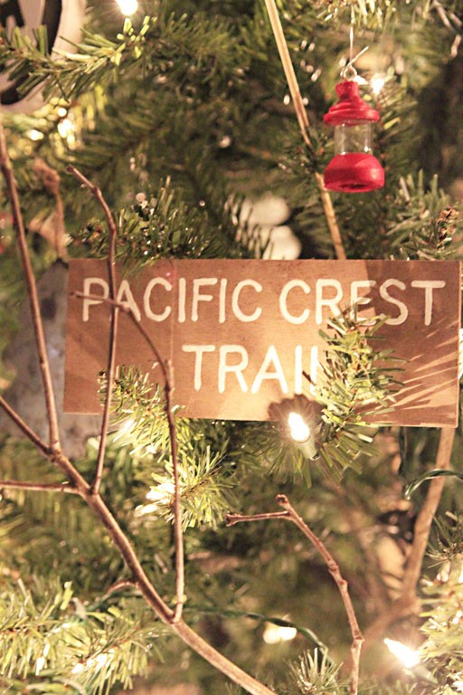 Vintage inspired Pacific Crest Trail Sign