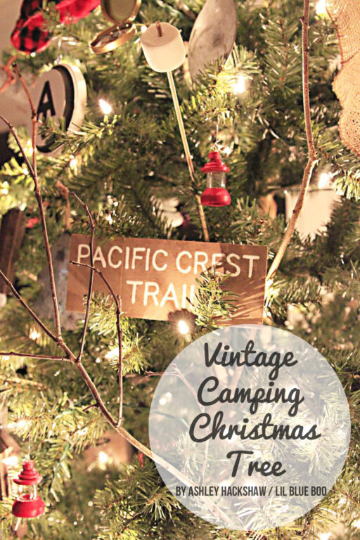 Vintage Camping Theme Tree - Michaels Makers Dream Tree Challenge 2015