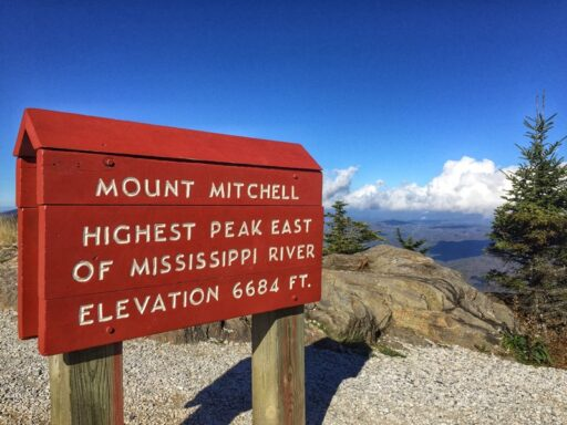 Mount Mitchell of the Blue Ridge Parkway