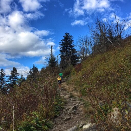 Hiking up Waterrock Knob to see the fall colors - Great Smoky Mountains