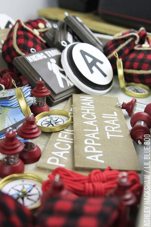 Rustic Handmade Ornament Ideas - Camping and Hiking