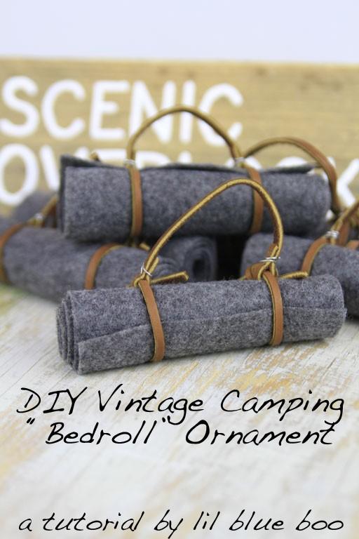 DIY Camping and Hiking Ornaments - Vintage Bedroll #diy #camping #lifeoutside #hiking #findyourpark