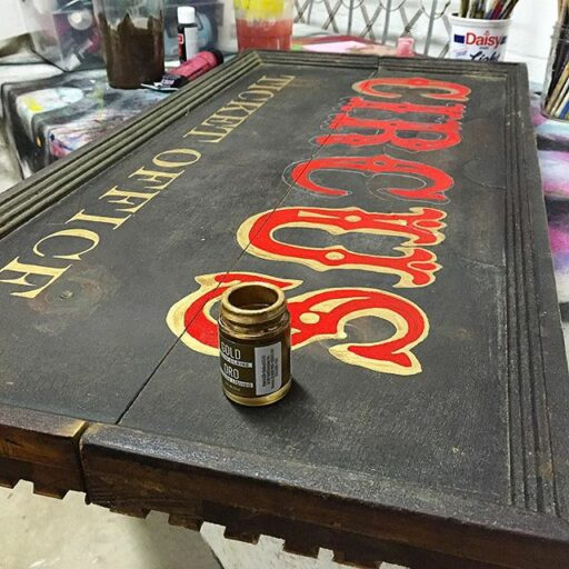 The art of sign painting - antique circus sign