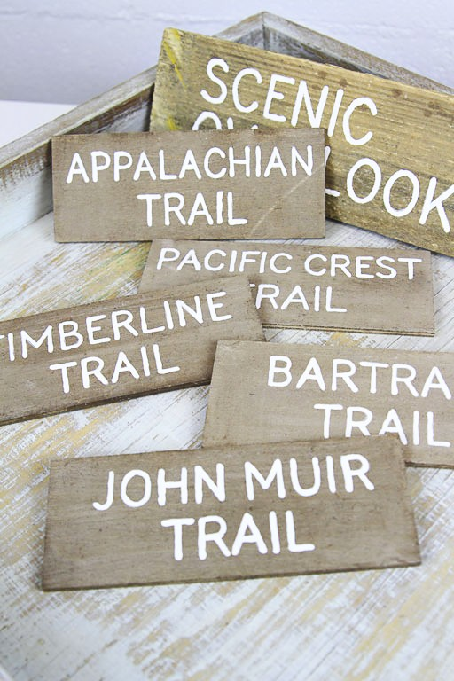 DIY Rustic Hand Painted Signs from Reclaimed Wood - Trail Hiking Signs