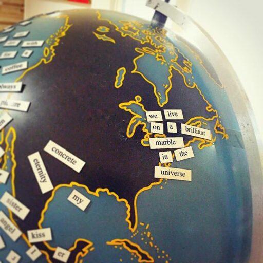 Vintage Metal Globe
