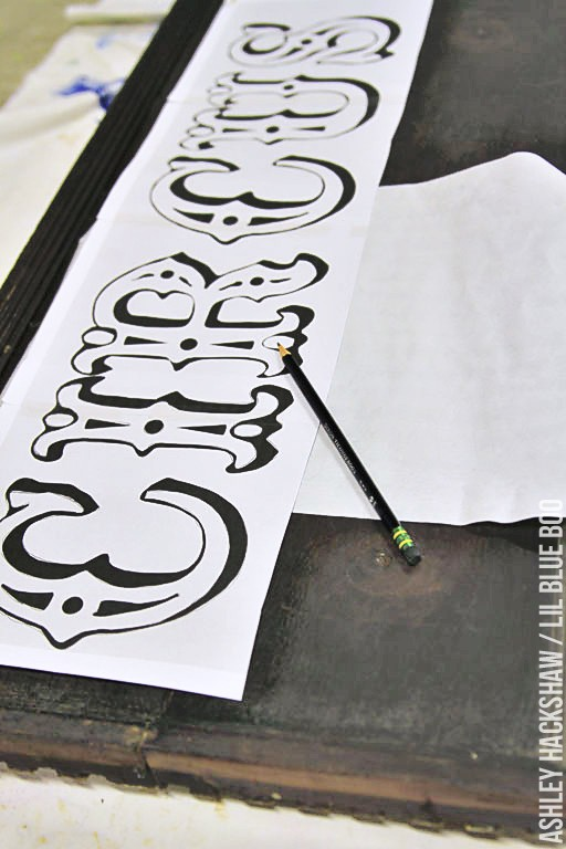 transfer lettering onto wood - how to transfer lettering onto wall
