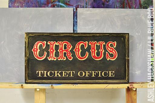 antique circus memorabilia - vintage circus signs