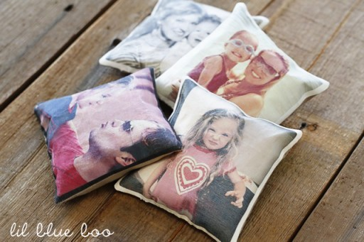 DIY Valentine's Gifts - Photo Pillows and Photo Sachet Beanbags