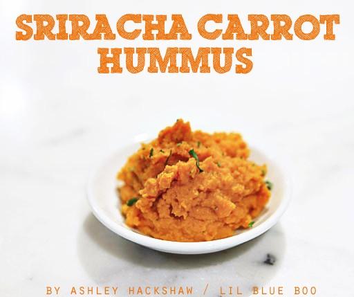 Sriracha Carrot Hummus Recipe - Gluten Free Recipes - Appetizer - Sriracha Hot Chili Sauce