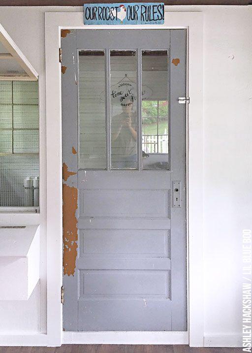 Chicken Coop Door Interior - Chicken House