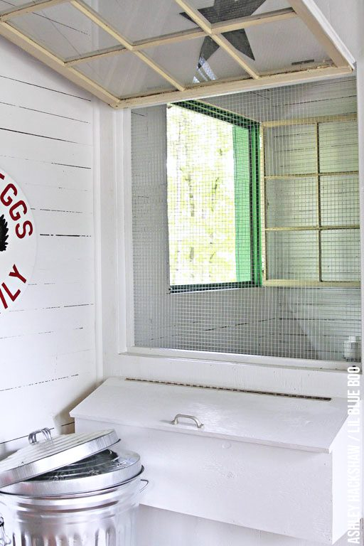 Chicken Coop Interior Design - reclaimed materials