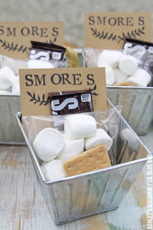 Smores Party idea s'mores - wedding favor party favor summer party
