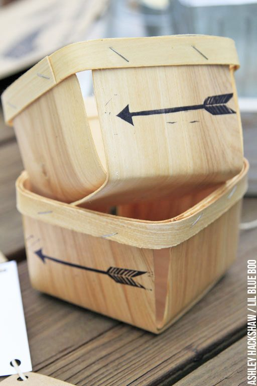 Arrow Stamp and Wood Berry Baskets