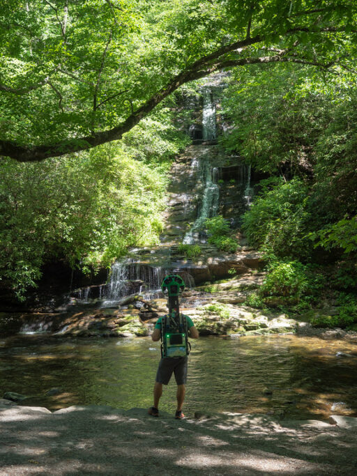 Deep Creek - Great Smoky Mountains Bryson City - Google Trekker
