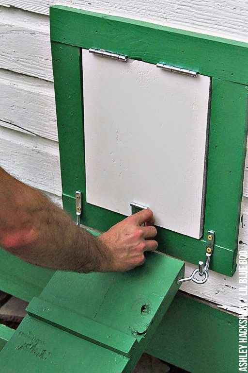 Attaching a ramp to the chicken coop door