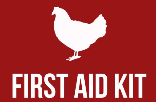 chicken first aid label