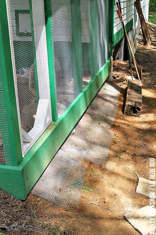 building a chicken run on a slope